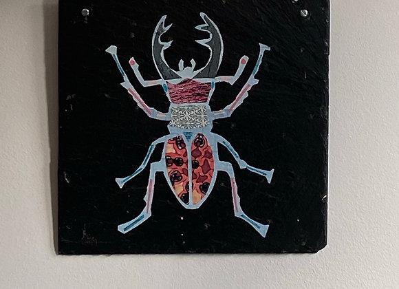 Decorative Slate Stag Beetle