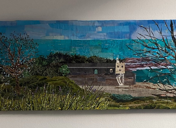 Jacobs ladder Sidmouth Devon on canvas