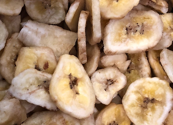 Plastic free organic dried banana chips