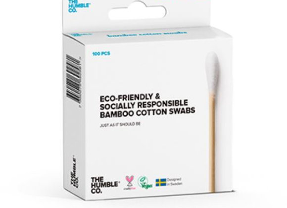 Plastic free bamboo and cotton swabs