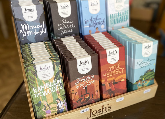 Josh's chocolate eight flavours in wooden stand