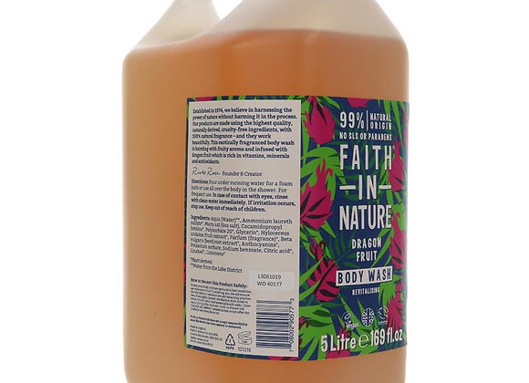 Faith in Nature lavender and geranium body wash shower gel in 5 litre container
