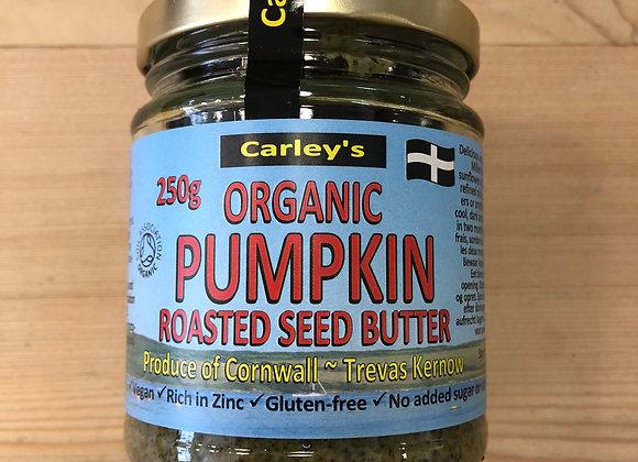 Carley's organic pumpkin seed butter in glass jar 250g