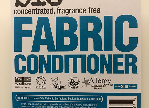 Bio-D plastic free concentrated fabric conditioner fragrance free refill