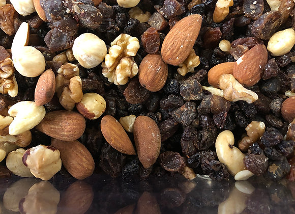 Plastic free organic dried fruit and nut mix