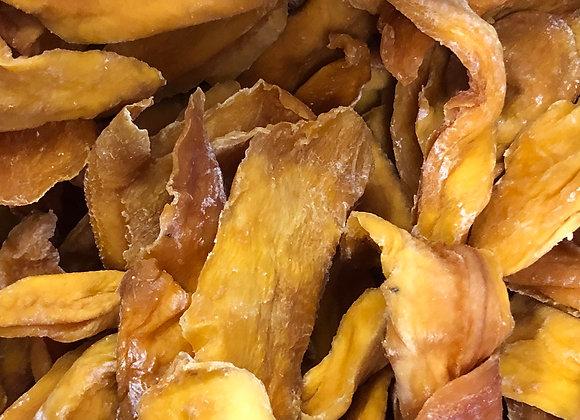 Plastic free organic dried mango pieces