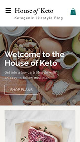 Food & Drinks website templates – Keto Diet Blog