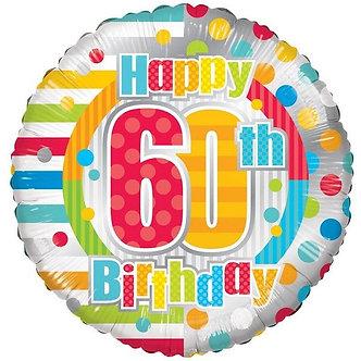 18IN UNISEX HAPPY 60TH BIRTHDAY FOIL