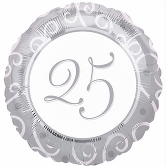 18IN SILVER ANNIVERSARY FOIL BALLOON