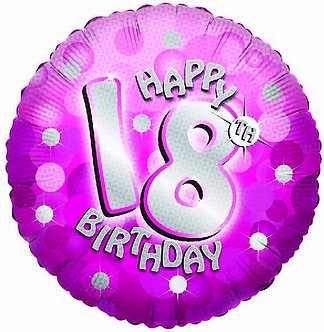 SPARKLE PINK 18TH 18IN FOIL BALLOON