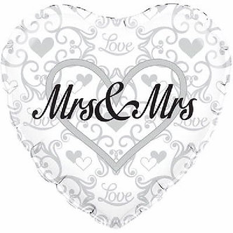 18IN MRS & MRS 18IN FOIL BALLOON