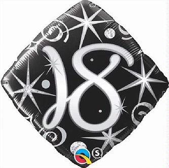 18TH B/DAY DIAMOND 18IN FOIL BALLOON