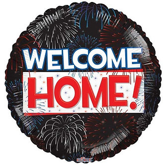 18IN WELCOME HOME FIREWORKS FOIL