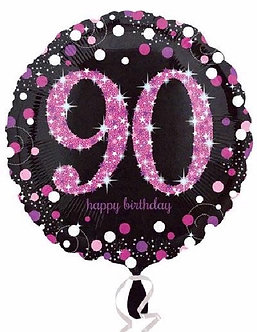 90TH PINK SPARKLES 18IN FOIL