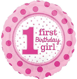 18IN 1ST BIRTHDAY GIRL FOIL BALLOON