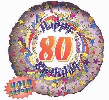 18IN 80TH BIRTHDAY FOIL BALLOON