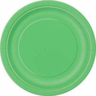 16PK 9IN LIME GREEN PLATES