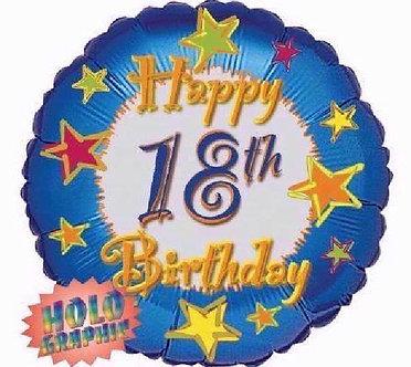 18IN 18TH BIRTHDAY FOIL BALLOON
