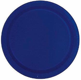 16PK 9IN TRUE NAVY BLUE PLATES