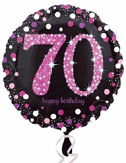 70TH PINK SPARKLES 18IN FOIL