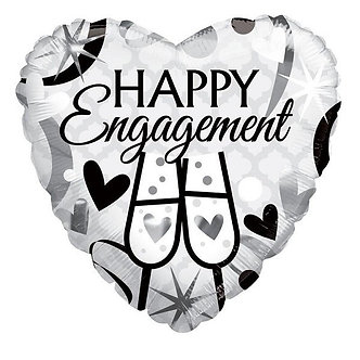 18IN HAPPY ENGAGEMENT GLASSES FOIL