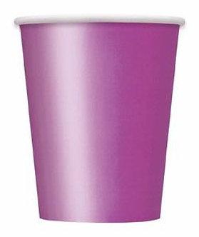 14PK 9OZ PRETTY PURPLE PAPER CUPS