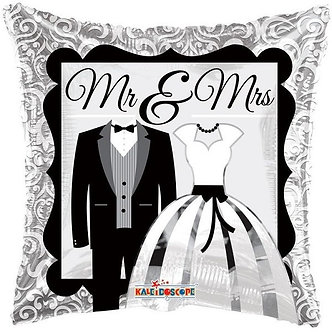 18IN MR AND MRS BALLOON FOIL