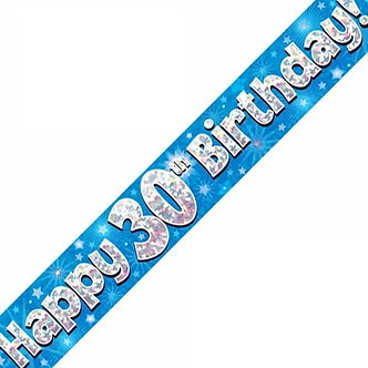 9FT 30TH BIRTHDAY BLUE BANNER