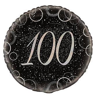 18IN BLACK PRISMATIC 60TH FOIL BALLOON