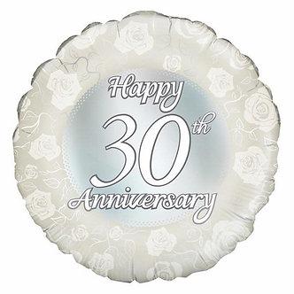 HAPPY 30TH ANNIVERSARY 18IN FOIL
