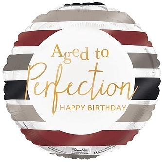 18IN AGED TO PERFECTION FOIL BALLOON