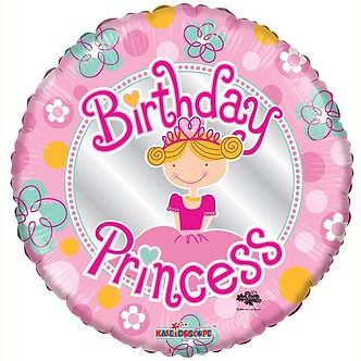 18IN BIRTHDAY PRINCESS FOIL