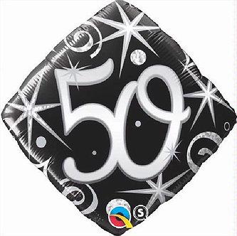 50TH B/DAY DIAMOND 18IN FOIL BALLOON