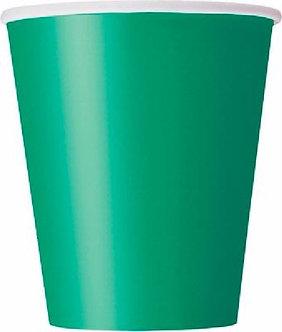14PK EMERALD GREEN 9OZ CUPS