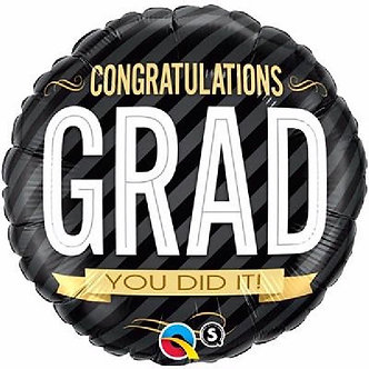 CONGRATULATIONS GRAD 18IN FOIL