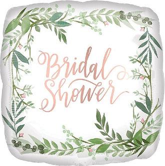18IN LOVE & LEAVES BRIDAL FOIL BALLOON