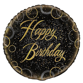 18IN GOLD PRISMATIC B/DAY FOIL BALLOON