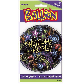18IN NEON WELCOME HOME FOIL BALLOON