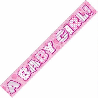 12FT BABY GIRL PRISMATIC BANNER