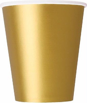14PK 9OZ GOLD CUPS