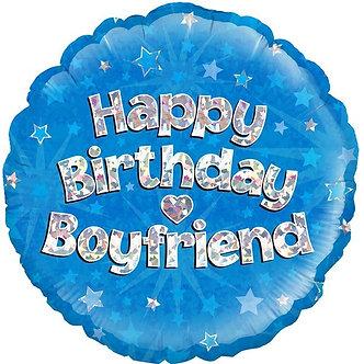 18IN BOYFRIEND B/DAY BLUE HOLO FOIL
