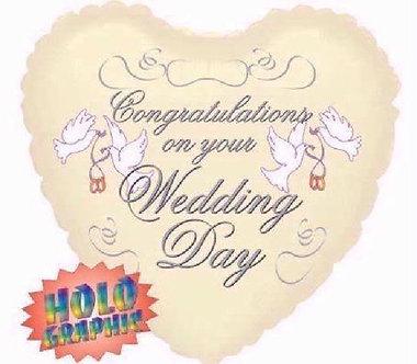 18IN IVORY WEDDING FOIL BALLOON