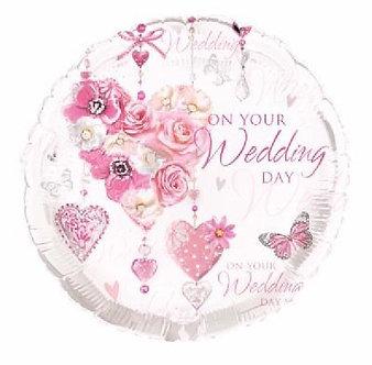 WEDDING 18IN FOIL BALLOON