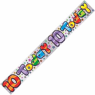 10 TODAY HAPPY B/DAY 9FT BANNER