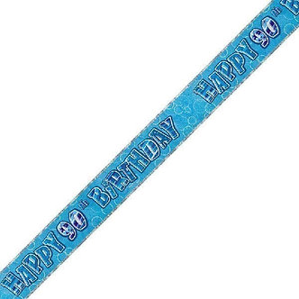 9FT BLUE GLITZ 90TH BANNER