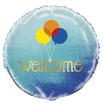 18IN BLUE OMBRE WELCOME FOIL BALLOON