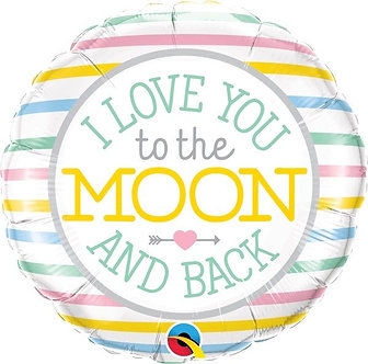 I LOVE YOU TO THE MOON 18IN FOIL BALLOON