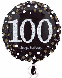 100TH GOLD SPARKLES 18IN FOIL