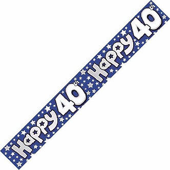 40TH NUMBERS 9FT BANNER