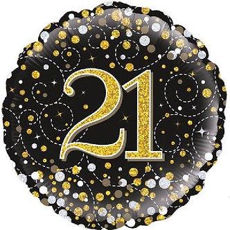 21ST SPARKLING FIZZ BLACK AND GOLD FOIL